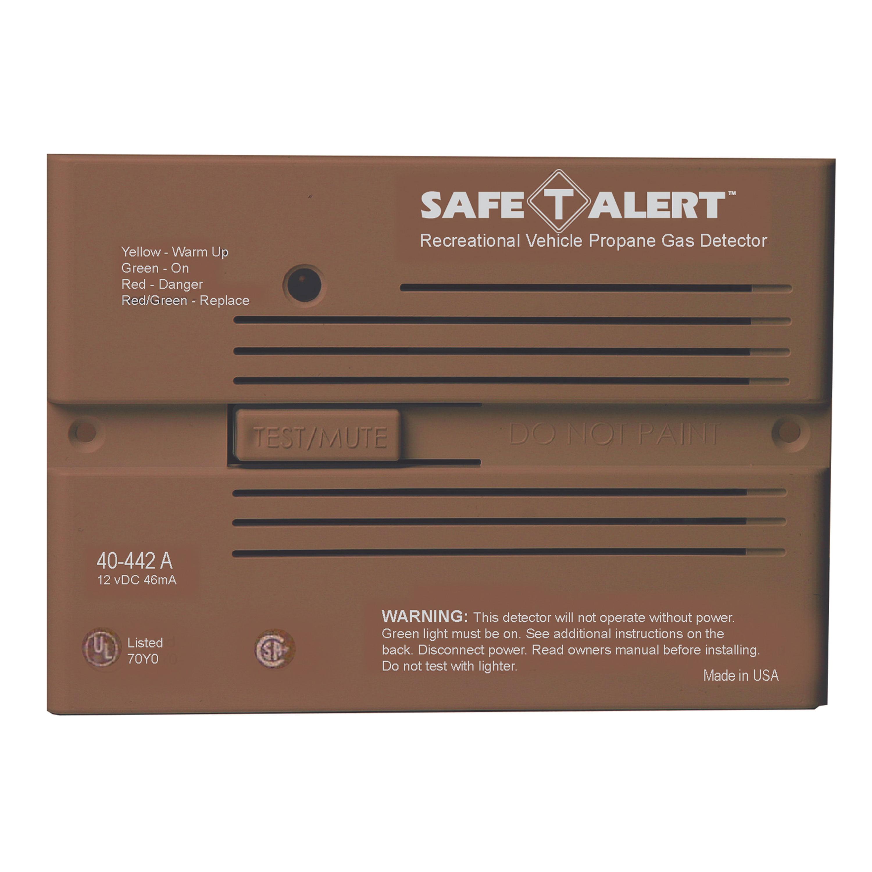 MTI Industries 40-442-P-BR Safe T Alert 40 Series Professional Propane/LP Gas Alarm - Flush Mount, Brown