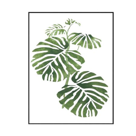 Gift Poster Print (Modern Green Plant Leaf Printing Canvas Art Poster Print Wall Picture Home Decor Gift (without Frame) Style:L-090 Size:40x50cm)