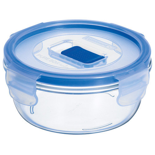 Luminarc Pure Box Active 1.7 Cup Round Storage Box with Lid (Set of 6)