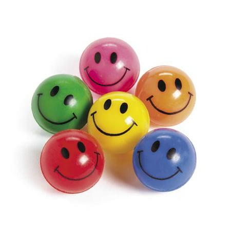 Rubber Smile Face Bouncing Balls by Fun Express ()