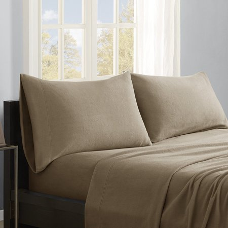 Micro Fleece Sheet Set  Queen  Brown  Set Includes  1 Flat Sheet  1 Fitted Sheet  2 Pillowcases By True North By Sleep Philosophy