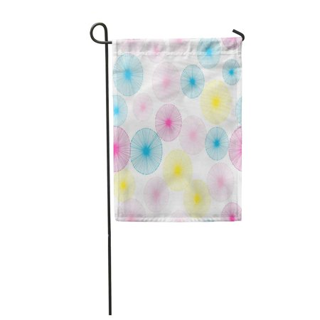 KDAGR Blue Abstract Dandelion Pattern with White Pink Autumn Blowing Botanical Bright Garden Flag Decorative Flag House Banner 12x18 inch Autumn Banner Flag Flags