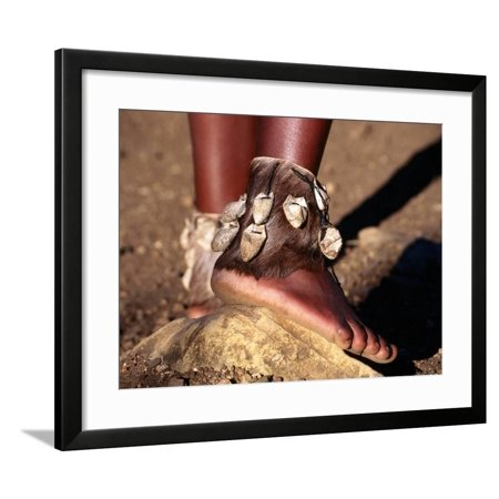 Dancer's Ankle Decorations, Zululand, South Africa Framed Print Wall Art By Ariadne Van Zandbergen