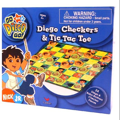 Nickelodeon Checkers & Tic Tac Toe Game Diego by Cardinal