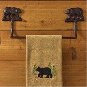 "Park Designs Cast Bear Towel Bar - 16"""