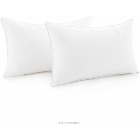 Weekender Down Alternative Pillow with Cotton Cover, Set of