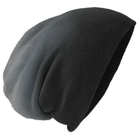 Mafoose Men's Slouch Beanie Black Dip Dye (Dip Dye Trend)