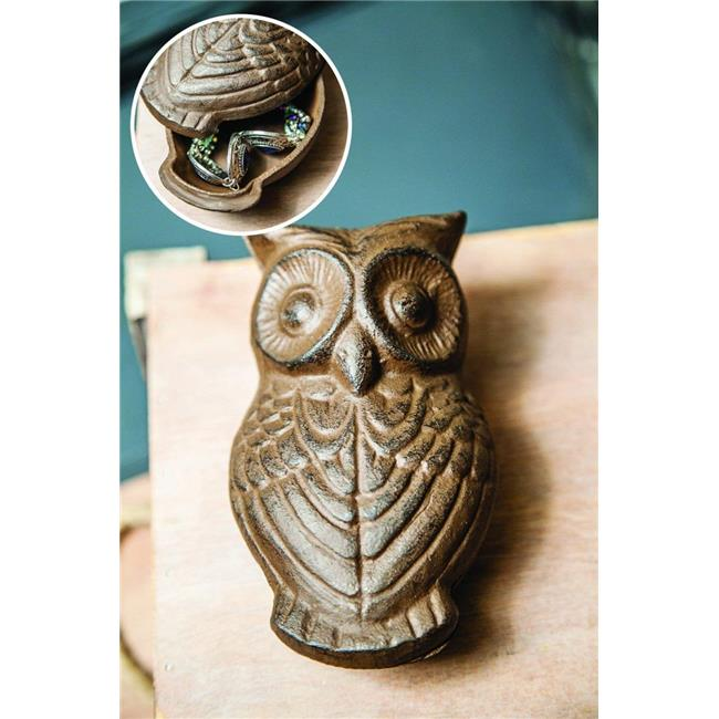 Manual Woodworkers & Weavers IMTBHO 5.5 x 3.5 x 3 in. Hoot Cast Iron Key Keeper - Set of 2 - image 1 of 1