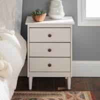 Madeline 3 Drawer White Nightstand by Bellamy Studios