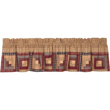 Khaki Tan Rustic & Lodge Kitchen Curtains Clamont Rod Pocket Cotton  Patchwork Plaid Valance
