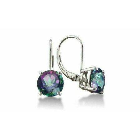 3.5 Carat Mystic Topaz Leverback Earrings ()