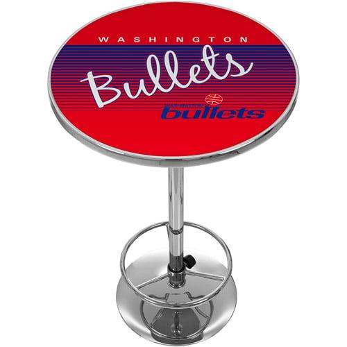 Washington Bullets Hardwood Classics NBA Chrome Pub Table