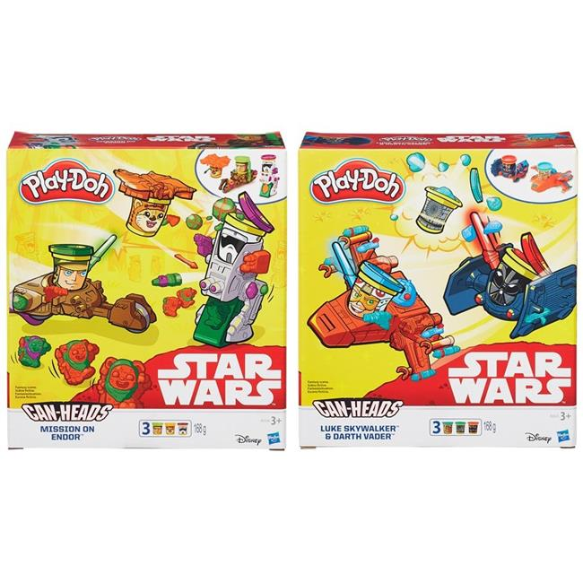 Hasbro HSBB0001 Play-Doh Star Wars Vehicle 2 Pack, Assorted Colors Set of 4 by Hasbro