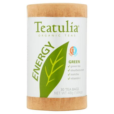 Teatulia énergie thés verts bio, 30 sachets de thé, 1,69 oz, 6 pack