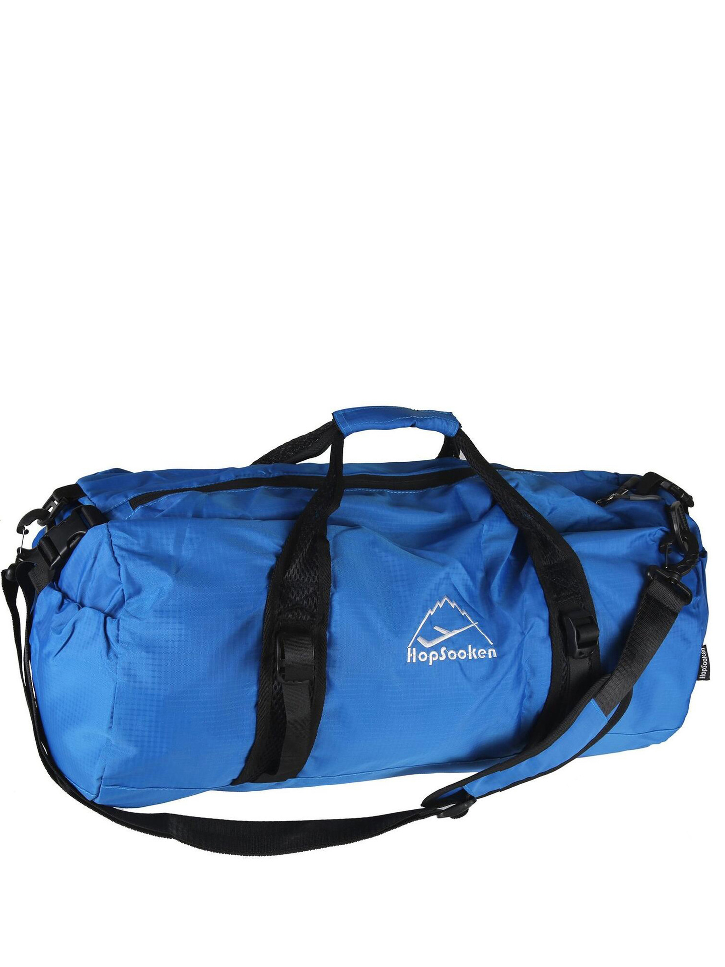 Hopsooken Travel Duffle Gym Bag Large Sport Women Men Foldable Waterproof Luggage Duffle Bag (50L, Blue) by