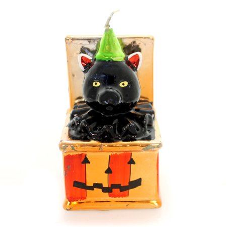 Halloween VINATGE JACK O LATERN CAT Wax Vintage Pumpkin Royal - Vintage Halloween Ideas