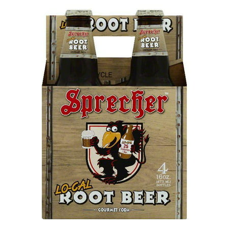 Sprecher Lo-Cal Root Beer Gourmet Soda, 4 ea (Pack of