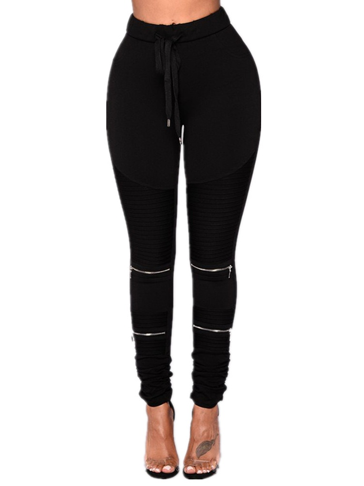 Elastic Waist Women Slim Fit Skinny Pencil Pants Leggings