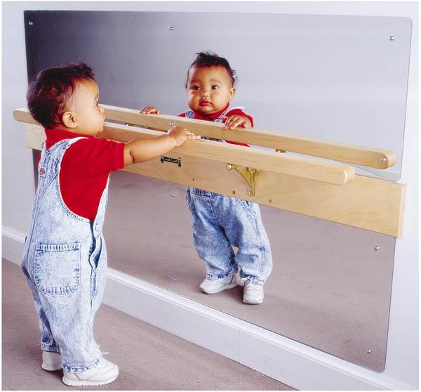 Infant Coordination Acrylic Mirror 47W x 28H in. by Jonti-Craft