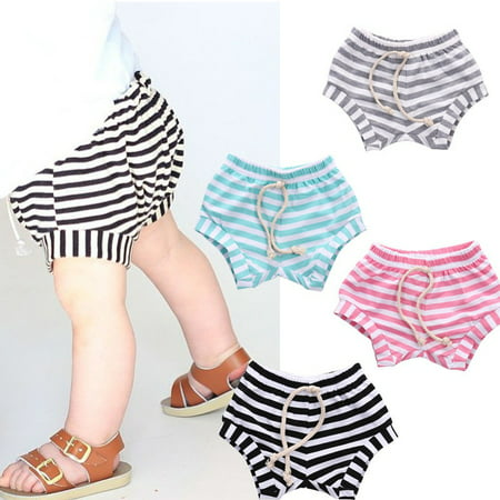 Toddler Kids Baby Boy Girls Hot Pants Cotton Striped PP Children Pants Bottoms age 0-4Years