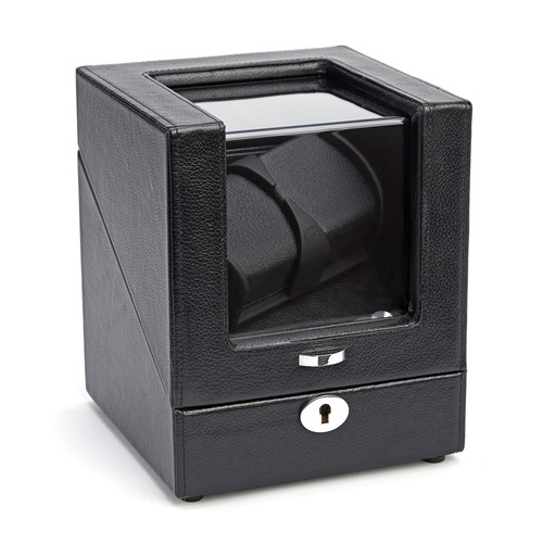 Royce Leather  Luxury Leather Battery Powered Double Watch Winder