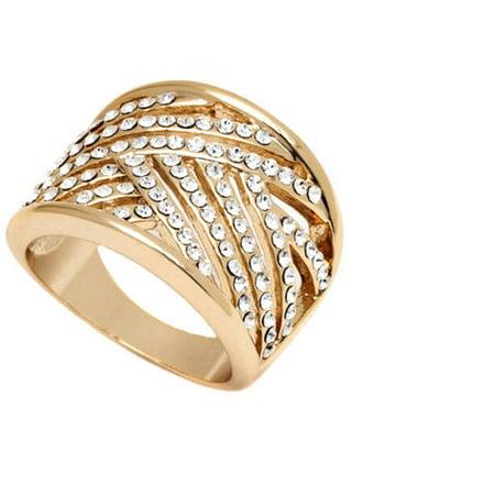 Clear Swarovski Elements 18kt Gold-Tone -