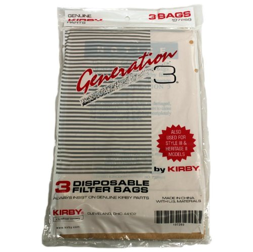 KIrby Upright Generation 3 Paper Bags - (15 Bags: 5 Packs Of 3) - Part #197289S