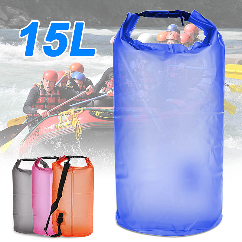 OUTERDO 15L Water Resistant Waterproof Dry Bag Canoe Floating Boating Kayaking Camping Hiking by