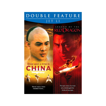 JET LI DOUBLE FEATURE (DVD) (ONCE UPON A TIME IN CHINA/LEGEND OF RED DRAGON (DVD)