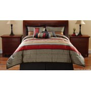 Mainstays Preston Geometric 7-Piece Bedding Comforter Set