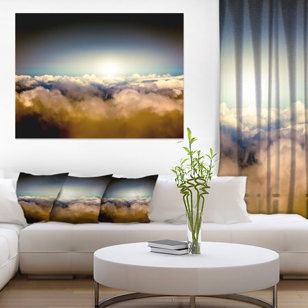 Gloomy Sky above Clouds - Contemporary Landscape Canvas Art - image 3 of 3