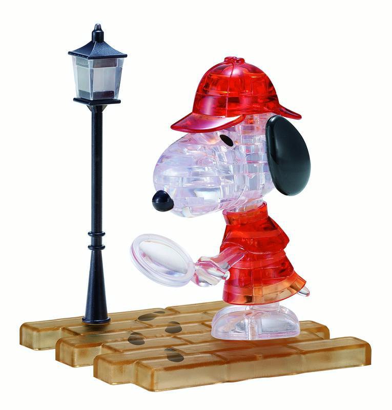 3D Crystal Puzzle - Detective Snoopy, 34 Pcs