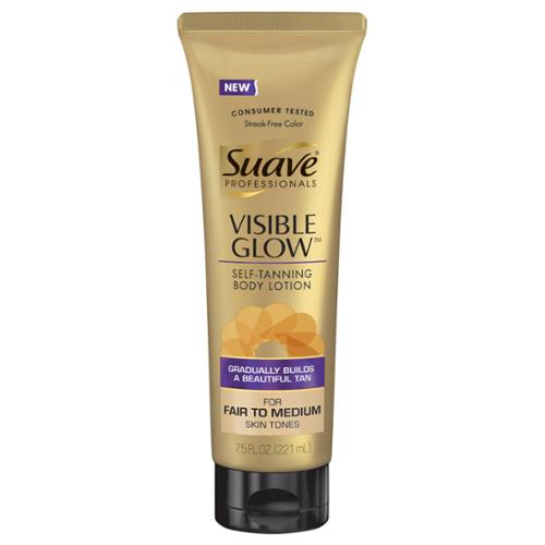 Suave Professionals Fair to Medium Visible Glow Self Tanning Body Lotion, 7.5 oz