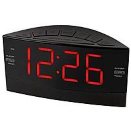 onn onb14av201 digital am fm alarm clock with large display refurbished. Black Bedroom Furniture Sets. Home Design Ideas