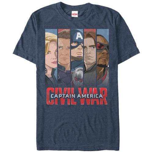 Captain America Civil War Team Cap Mens Movie T Shirt L by Fifth Sun