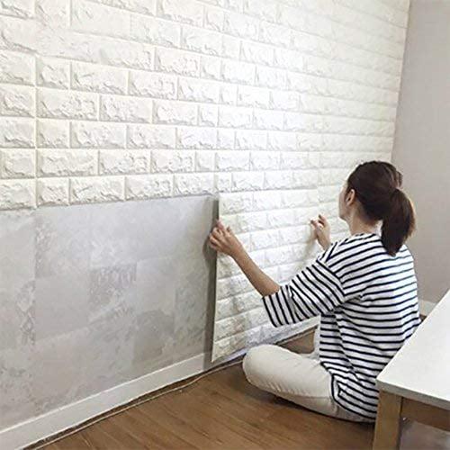 White Brick 3d Wall Panels Peel And Stick Wallpaper For Living Room Bedroom Kitchen Tv Walls Sofa Background Wall Decoration Walmart Com Walmart Com