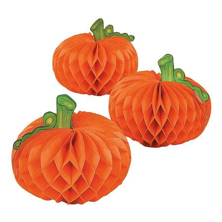 Paper Pumpkin Decorations - 6 pcs - Halloween/Thanksgiving Table Centerpieces, Paper Pumpkin Decorations (6 pcs. per set) By Fun Express - Pumpkin Express