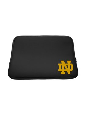 "University of Notre Dame V2 Black Laptop Sleeve, Classic V1 - 13"""