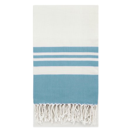 Swan Comfort Peshtemal Turkish Bamboo Towel Beach Pool Cover Up Picnic Bath Spa Sauna - (Water Blue ) ()