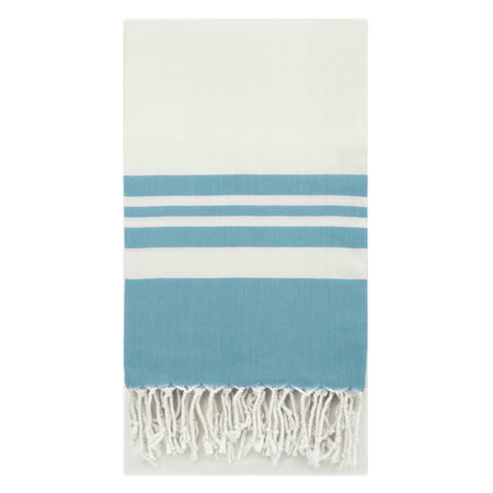 Swan Comfort Peshtemal Turkish Bamboo Towel Beach Pool Cover Up Picnic Bath Spa Sauna - (Water Blue