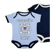 United States Coast Guard Logo Blue Baby Bodysuit 2 pk 6-9M