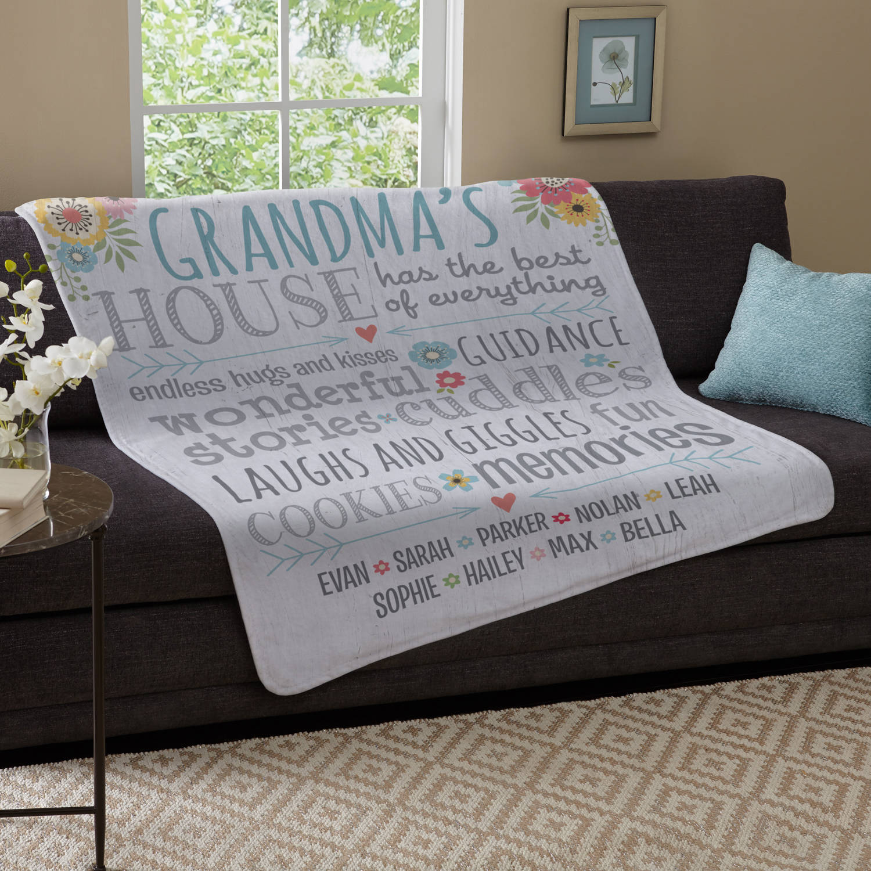 Personalized Favorite Memories Plush Blanket