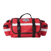 EMT Emergency Trauma First Responder Medical Bag With Multiple Compartments Empty, Red
