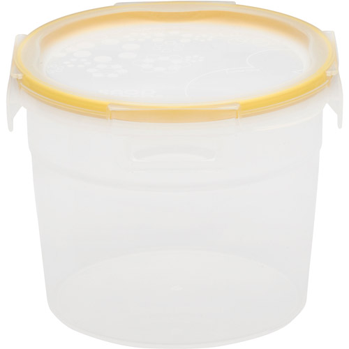 Snapware Total Solution 6-Piece Plastic 7.4-Cup Tall Round Containers, Clear