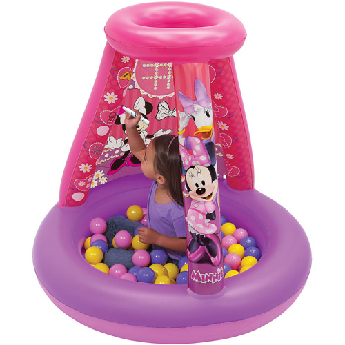 Disney Minnie Mouse Color N' Play Activity Playland with 20 Balls and 4 Markers