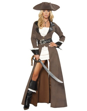 4pc Deluxe Pirate Captain Costume by Roma Costume