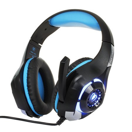 Gaming Headset with LED Light GM-1 Headband Earphone for Playstation 4 PSP  Xbox one Tablet iPhone Ipad Samsung Smartphone PC with Adapter Cable