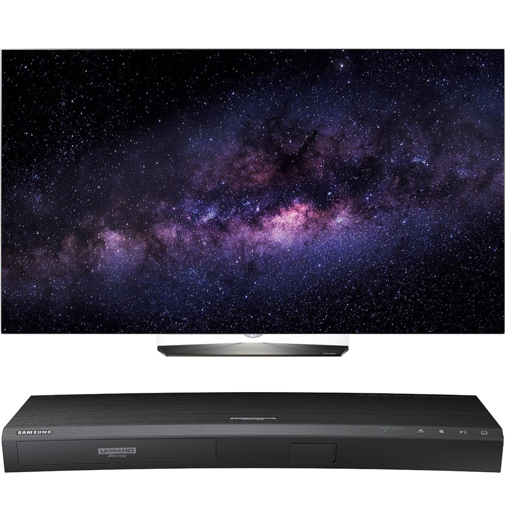 LG OLED65B6P 65-Inch B6 Series 4K UHD OLED HDR Smart TV with Samsung UBD-K8500 3D Wi-Fi 4K Ultra HD Blu-ray Disc Player