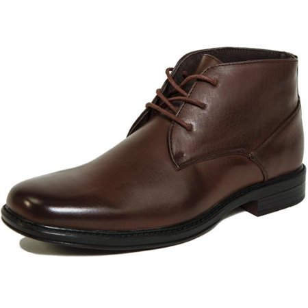 Alpine Swiss Mens Ankle Boots Dressy Casual Leather Lined Dress Shoes Lace up NW Brown Size 9