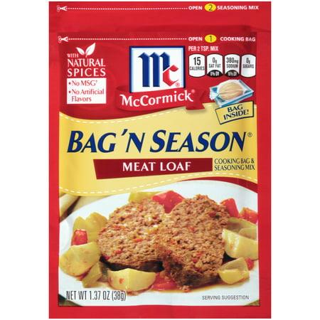 Mccormick Bag N Season  Meat Loaf Bag N Season Seasoning Mix  1 37 Oz  Packet